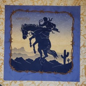 "Western Bandana 21"" square Cheyenne"